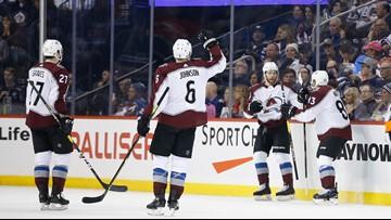 Landeskog helps Avalanche beat Jets 4-1 to end 8-game skid