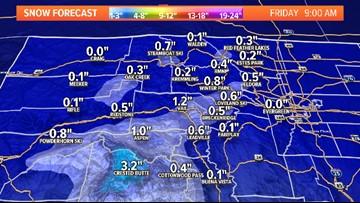 INTERACTIVE RADAR | Snow falling in areas of Colorado