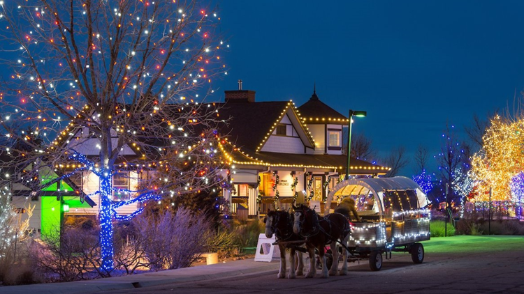 This winter The Denver Botanic Gardens at Chatfield Farms transformed into the North Pole with Santa's Village.