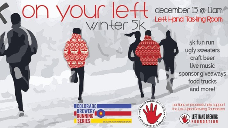 On Your Left Winter 5k at Left Hand Brewing