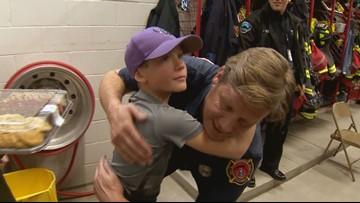 Castle Rock boy thanks firemen for life-saving lessons