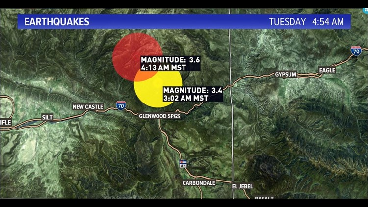 Two earthquakes, 3.6 and 3.4, rock Glenwood Springs