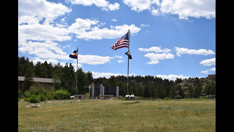 A son made a veteran's memorial for his father at Red Feather Lakes.