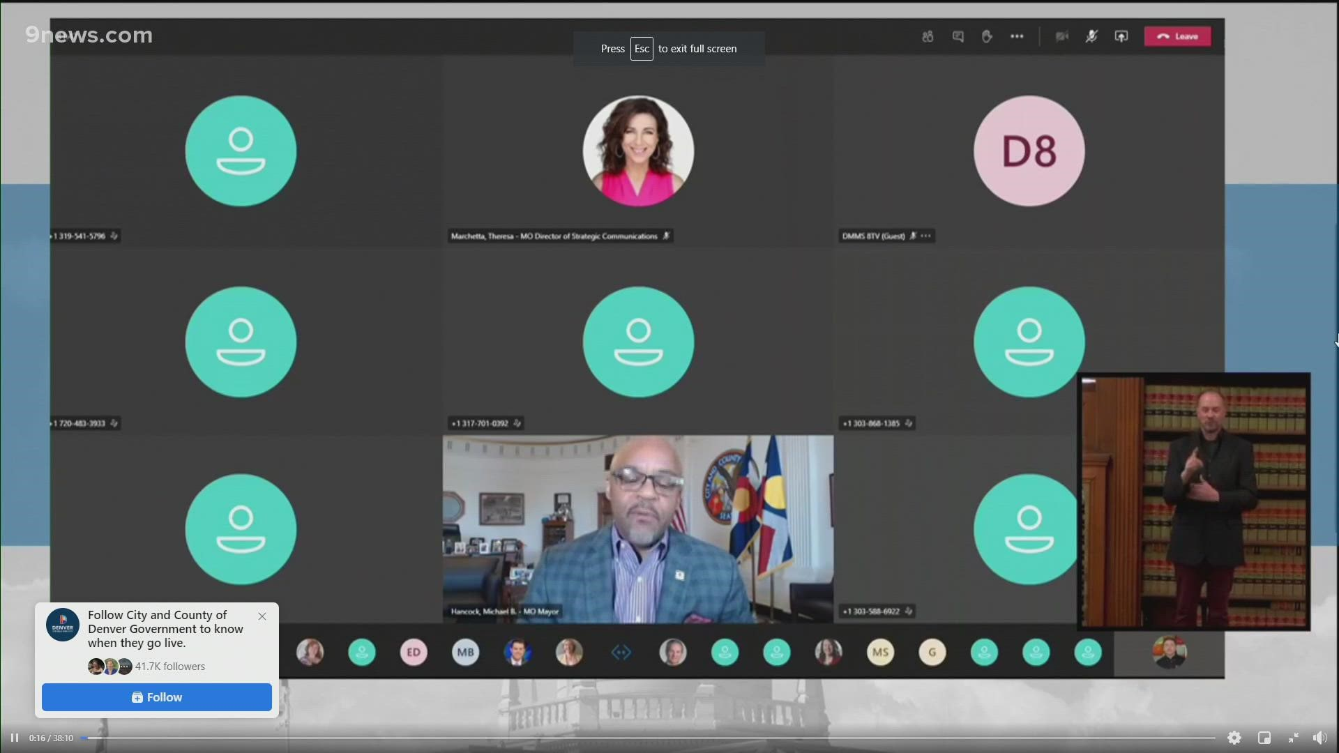 Denver Coronavirus Mayor Hancock Provides Update On Covid 19 9news Com