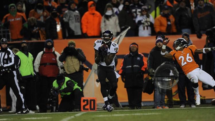 Ravens Broncos Football Rahim Moore Jacoby Jones