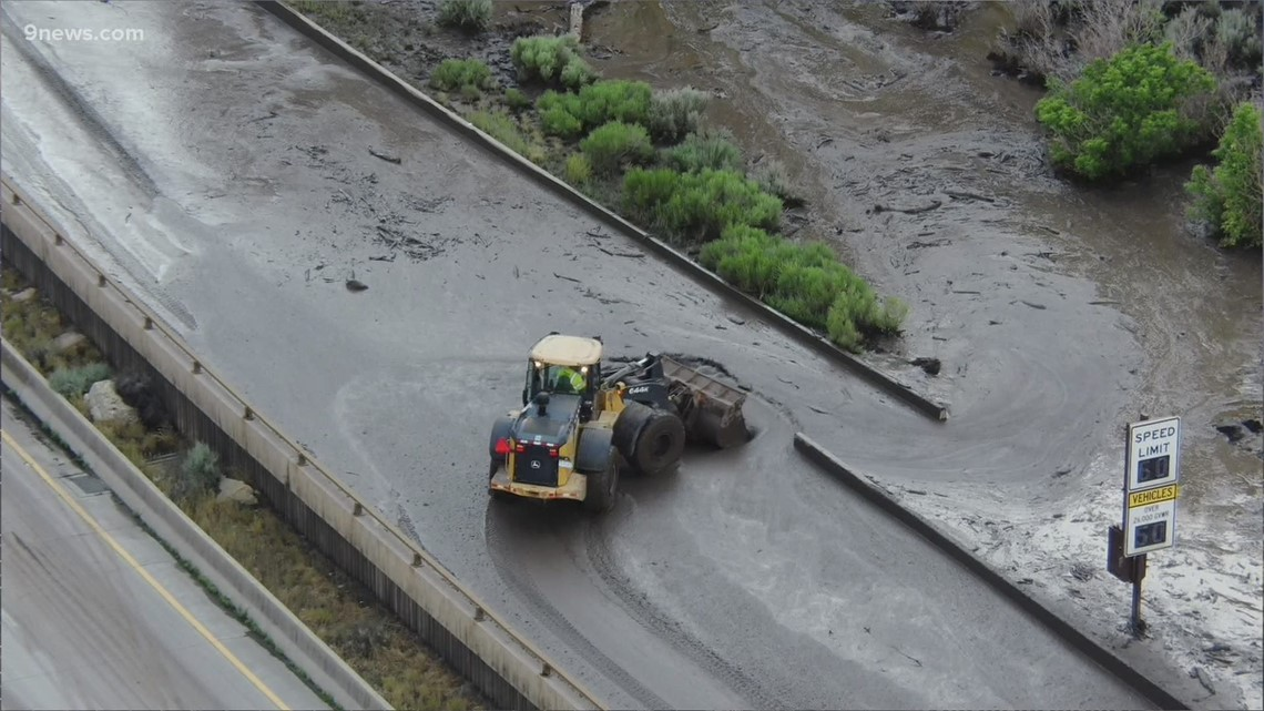 I-70 back open in both directions after Glenwood Canyon mudslides