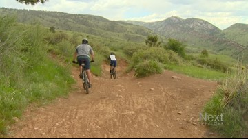 A section of Longhorn Trail in White Ranch Park is now for mountain bikes only