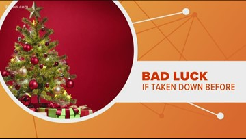 When should you take down your Christmas tree?