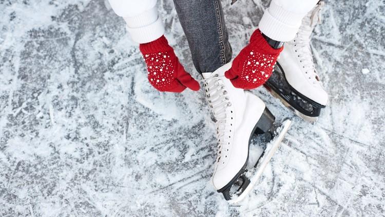 Ice skates ice skating ice thinkstock