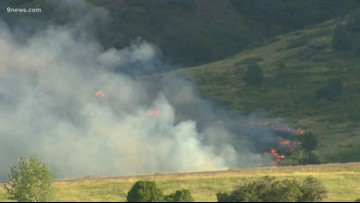More homes evacuated as Deer Creek Canyon Park fire continues to burn on 13.5 acres in Jefferson County