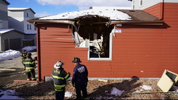 Apparently airborne vehicle crashes through Highlands Ranch homes