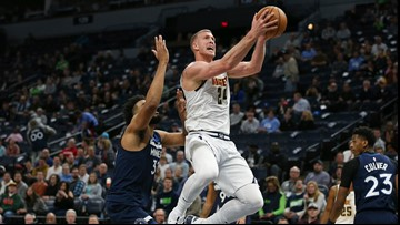 Backup Nuggets center Mason Plumlee sidelined by foot injury