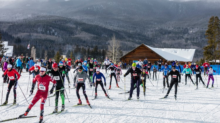 Frisco Gold Rush skiing nordic event