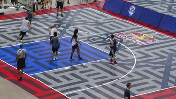Teams compete in 3x3 basketball tournament with goal of Olympic Games