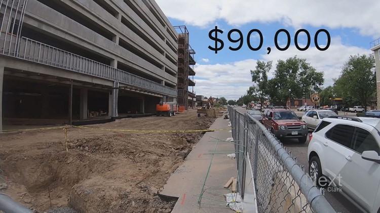 Denver construction off of Colorado Boulevard