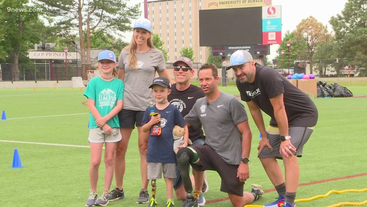 Six-year-old gifted with a new prosthetic running leg