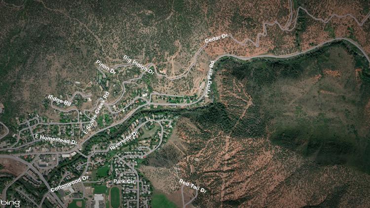Basalt flooding map