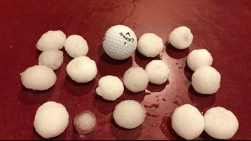 Does large hail fall in the mountains?