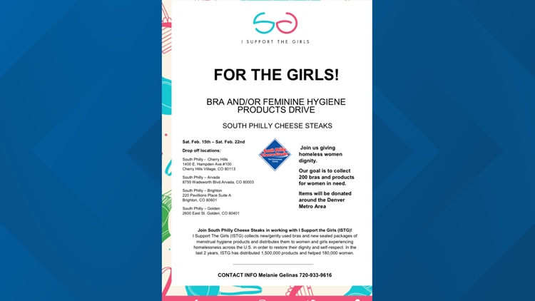 Flyer for bra drive