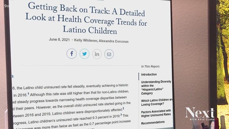 Lack of insurance for children affects Hispanic, Latino communities, study says