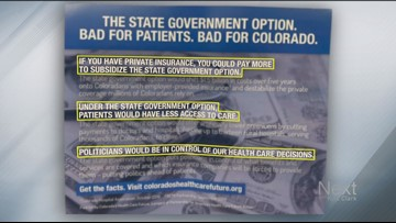 New mailer criticizes public health option Colorado lawmakers will debate in 2020