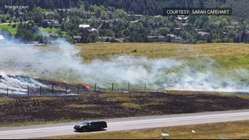 I-70 reopens after crews contain wildfire near Avon exit