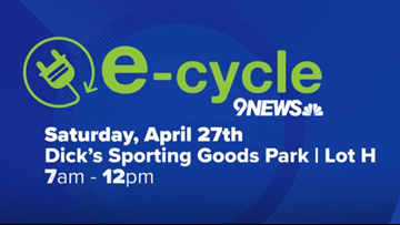 Recycle your old electronics at the 9NEWS E-Cycle on April 27