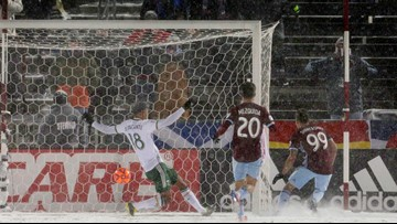 Late goal lifts Rapids to 3-3 draw in coldest MLS match