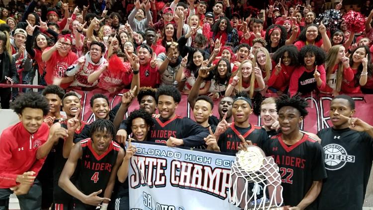 Rangeview 5A boys basketball championship 2019