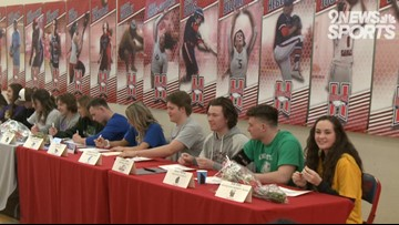 Heritage holds National Signing Day ceremony for 19 student-athletes