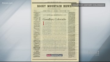 160 years ago, the first edition of the Rocky Mountain News was printed