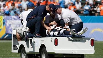 Broncos defensive back De'Vante Bausby: 'I was paralyzed for the first 30 minutes'