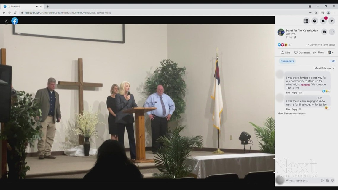 Mesa County Clerk Tina Peters reappears, speaks publicly at Grand Junction church