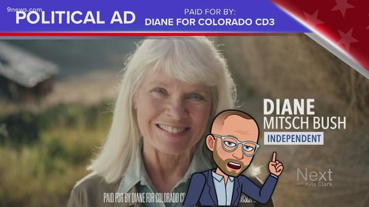 Ad for Democrat Diane Mitsch Bush includes 'independent' label