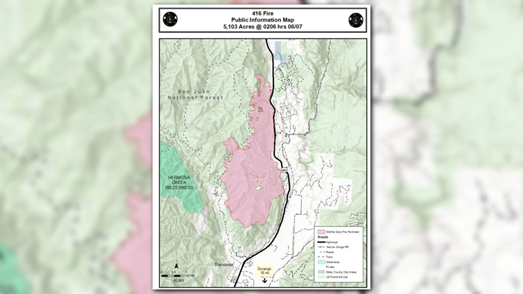 416 Fire Grows To More Than 5 000 Acres Remains 10 Percent