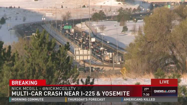 Multi-car crash near I-225 and Yosemite