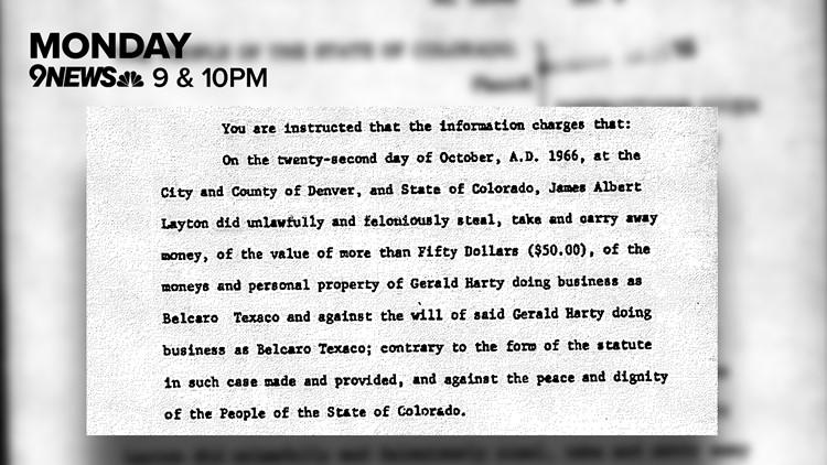 Affidavit for Colorado theft