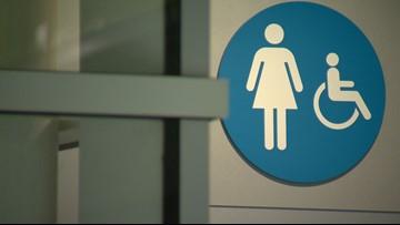 RTD removes bathroom doors at Union Station