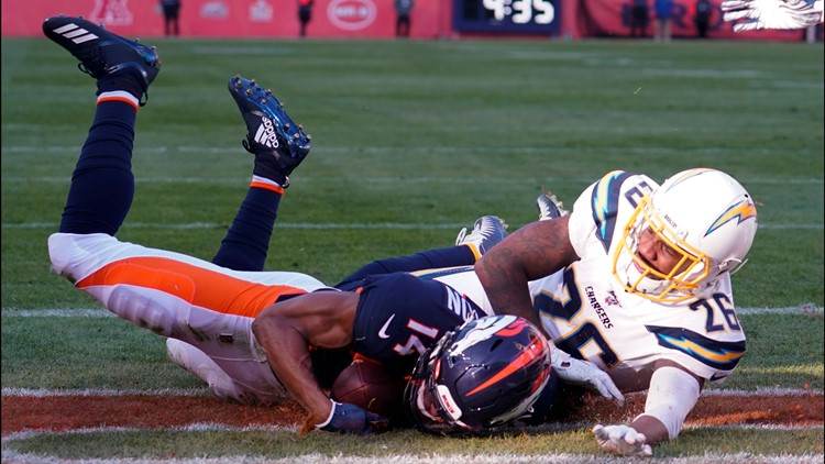 Chargers Broncos Football Courtland Sutton