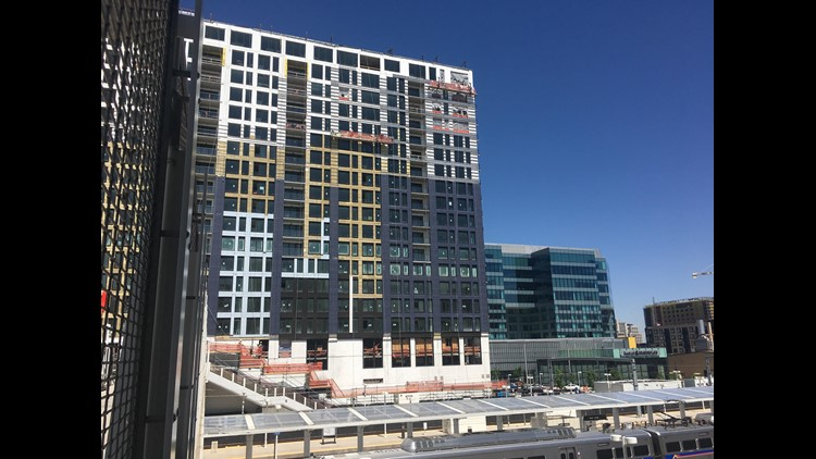 A look at the new building where about 33 units will go to low-income households. (Photo: Brandon Rittiman)