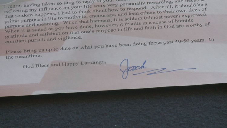 Letter to Ed Givens sent by Jack Lousma