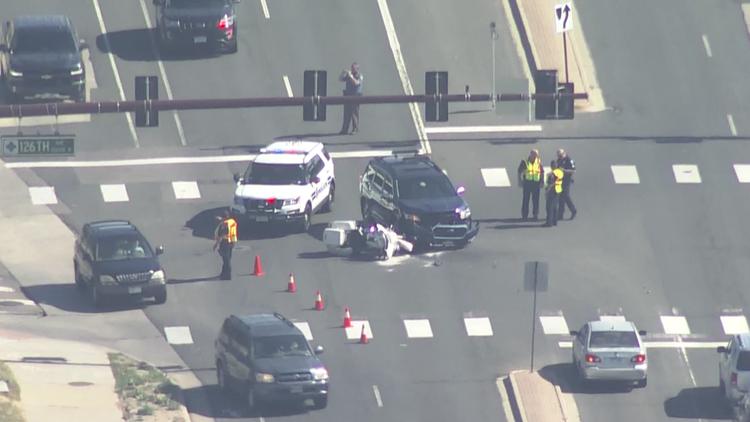 Thornton officer seriously injured in crash
