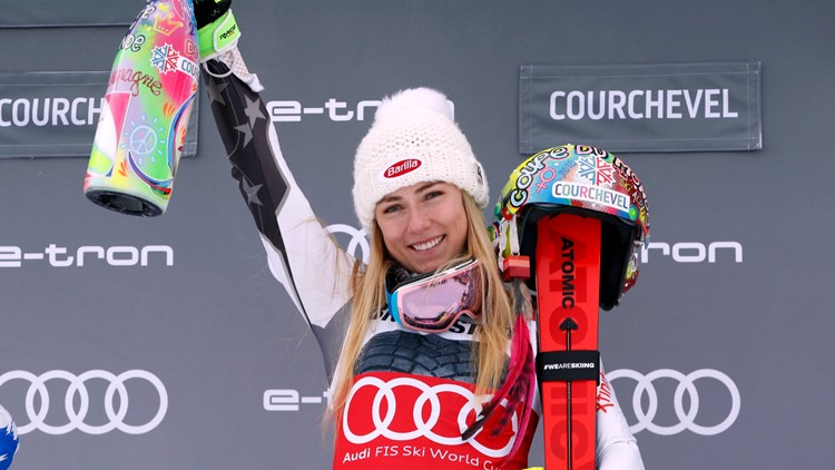 Shiffrin ties World Cup record with 35th win in slalom