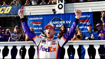 Denny Hamlin stamps himself a championship contender at Pocono