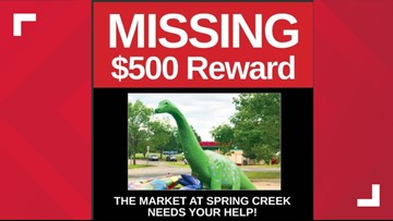 Have you seen Deeno? Dinosaur sculpture goes missing from Colorado Springs retail center