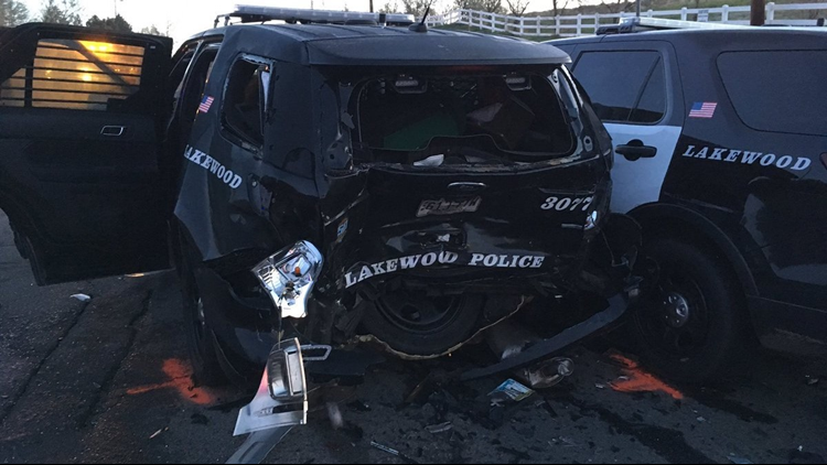 Lakewood officer hit by suspected DUI driver while conducting DUI