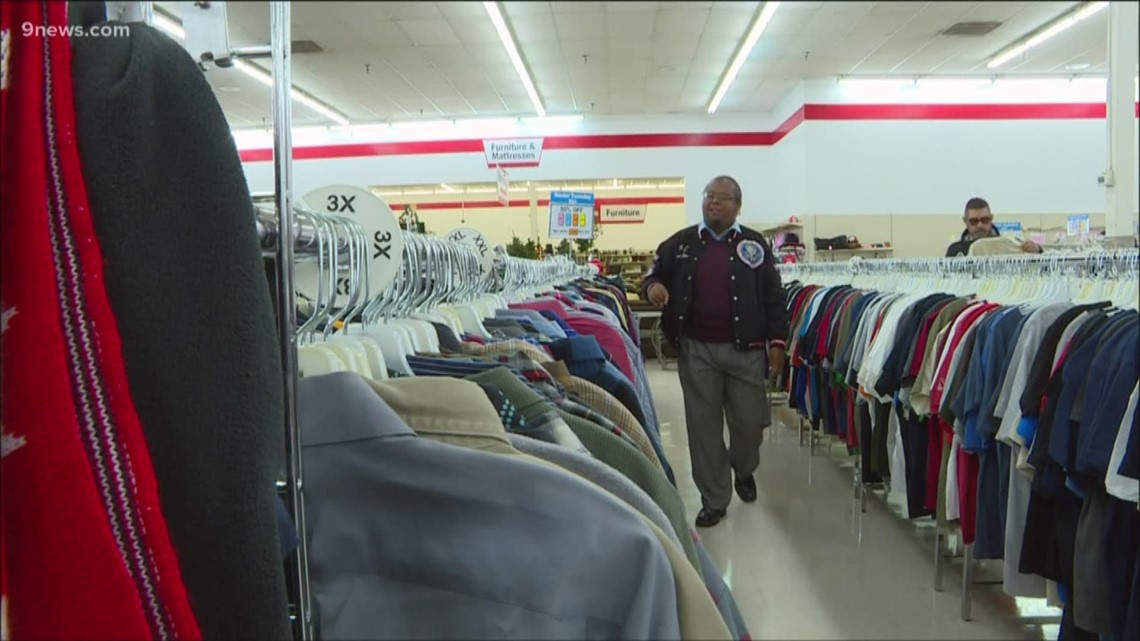 Myles King serenades customers at the Central Park ARC Thrift Store