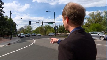 Public Works repaints crosswalk in Denver after pedestrian's tweet