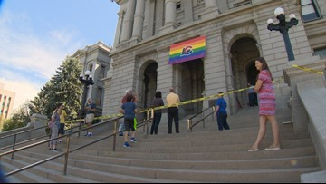 This is the first time a Pride flag has been flown from the Colorado Capitol