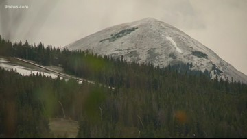 Colorado's mountain peaks receive dusting of September snow